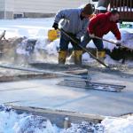 Betonavimas šaltame ore